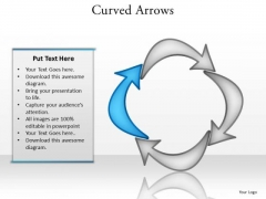Ppt Curved Arrows PowerPoint Templates Pointing Inwards Step 4