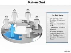 Ppt Demonstration Of 3d Pie Chart With Standing Busines Men PowerPoint Templates