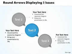 Ppt Descending Arrows PowerPoint 2010 Displaying 3 Issues Templates