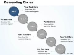 Ppt Descending Circles Connections Travel With Arrow PowerPoint Templates