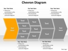Ppt Describing Yellow Component Using Chevron Diagram PowerPoint Templates