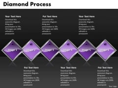Ppt Diamond Process 6 Power Point Stage PowerPoint Templates