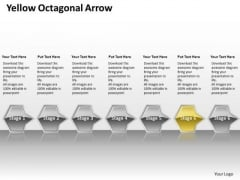 Ppt Direct Flow Of Yellow Octagonal Circular Arrows PowerPoint 2007 Stages Templates