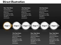 Ppt Direct Illustration Of 6 Steps Involved Process PowerPoint Templates