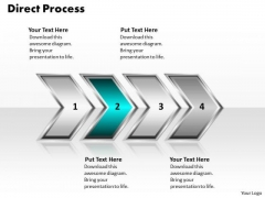 Ppt Direct Illustration Of Process Using 4 Power Point Stage PowerPoint Templates