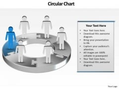 Ppt Display Of 3d Pie Org Chart PowerPoint 2010 With Standing Busines Men Templates