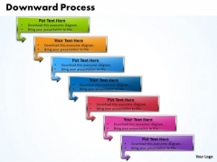 Ppt Downward Process Of 7 State Diagram PowerPoint Templates