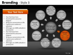 Ppt Editable Circular Text Place Holders Cycle Charts PowerPoint Slides