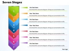 Ppt Erectile 7 Stages Represented By Arrow PowerPoint Templates