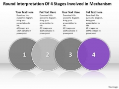 Ppt Evaluation Of Four Stages Involved Mechanism PowerPoint Templates