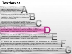 Ppt Fancy Letters Abcdefg With Textboxes Business Plan PowerPoint Process Templates