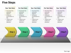 Ppt Five Create PowerPoint Macro Linear Writing Process Presentation Templates