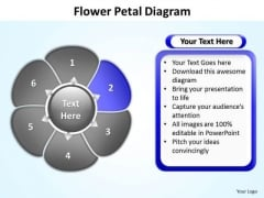 Ppt Flower Petal Chart Convert Pdf To Editable PowerPoint Free Templates