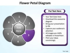 Ppt Flower Petal Design PowerPoint 2007 Free Editable Templates