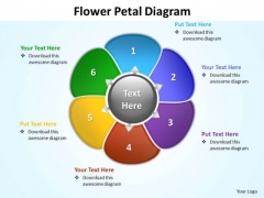 Ppt Flower Petal Swim Lane Diagram PowerPoint Template Editable Maps Templates