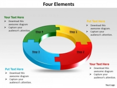 Ppt Four Colorful PowerPoint Presentations Puzzles Forming Circle Templates