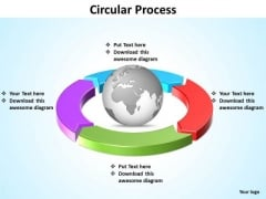 Ppt Four Segments Around Globe In Circle PowerPoint Presentation Templates