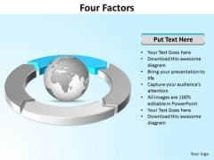 Ppt Four Segments Around Globe PowerPoint Presentation Circle Blue Templates