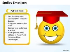 Ppt Graduation Celebration Smiley Emoticon Business Strategy PowerPoint Success Templates