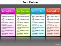 Ppt Great Way To List 4 Factors PowerPoint Templates