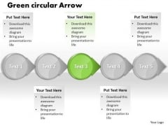 Ppt Green Circular Motion PowerPoint Arrow Process Flow Charts Templates