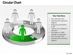 Ppt Green Men Standing On Business Layouts PowerPoint 2003 Download Pie Chart Templates