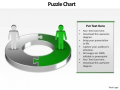 Ppt Green PowerPoint Slide Man On Circular Gantt Chart Template Templates