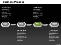 Ppt Green PowerPoint Slide Stage 3d Sequential Linear Process Templates