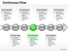 Ppt Green Stage Business Presentation Download Data Flow Diagram PowerPoint Templates