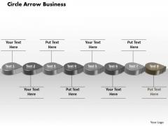 Ppt Grey Circular Arrow Business PowerPoint Theme Transactions Diagram Templates