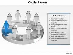 Ppt Group Of People Pie Chart Person Presentation Standing Blue Piece PowerPoint Templates
