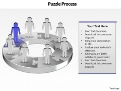 Ppt Group Of People Pie Chart Person Standing Purple Piece PowerPoint Templates