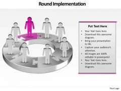 Ppt Group Of People Pie Charts Person Standing Pink Piece PowerPoint Templates