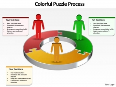 Ppt Group Of People Presentation Layouts Circular Puzzle PowerPoint Templates