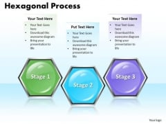 Ppt Hexagonal Forging Process PowerPoint Slides 3 Stage Templates