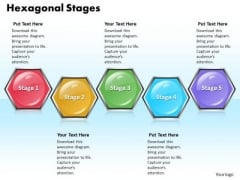 Ppt Hexagonal Process 5 Phase Diagram PowerPoint Templates