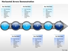 Ppt Horizontal Demonstration Of Finance Process Using 6 Stages PowerPoint Templates