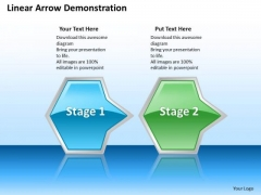 Ppt Horizontal Demonstration Of Octagonal Arrows 2 State Diagram PowerPoint Templates