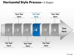 Ppt Horizontal Flow Of 6 Stage Cause And Effect Diagram PowerPoint Template 5 Graphic