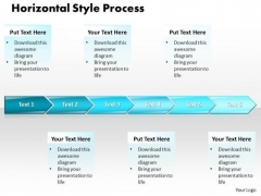 Ppt Horizontal Polished Style PowerPoint 2007 6 Stages 1 Templates