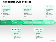Ppt Horizontal Style 5 Stages 1 PowerPoint Templates