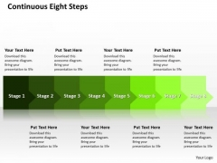 Ppt Horizontal Way To Prevent Production Losses Eight Steps PowerPoint Templates