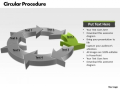 Ppt Iinstruction Of PowerPoint Presentation Circular Procedure 7 Stages Templates