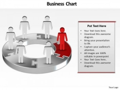 Ppt Illustration Of 3d PowerPoint Bar Chart With Standing Business People Templates