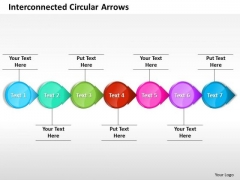 Ppt Interconnected Stock Exchange Circular Arrows Straight Line 7 Stages PowerPoint Templates