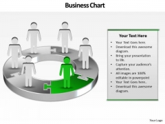 Ppt Layout Of 3d Pie Chart With Standing Busines Men PowerPoint Templates