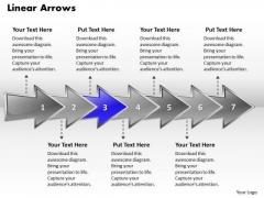 Ppt Linear 3d Arrows PowerPoint Describing Seven Aspects Templates