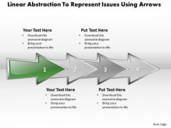 Ppt Linear Abstraction To Represent Business Issues Using Arrows PowerPoint Templates