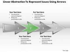 Ppt Linear Abstraction To Represent Issues Business PowerPoint Templates