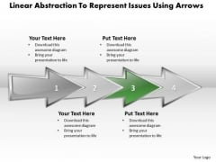 Ppt Linear Abstraction To Represent Key Issues Business PowerPoint Templates